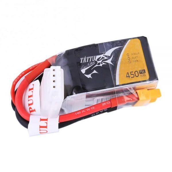 Gens Ace TATTU LiPo Akku Pack 3S 450mAh 11,1V 75C 150C FPV Racing