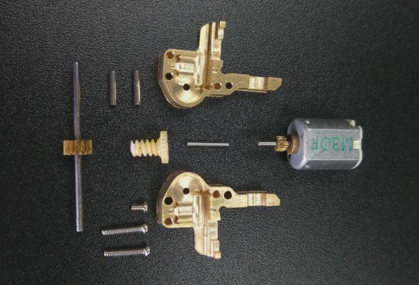 Mikrogetriebe DIY aus Messing CNC gefräst für 1:87 RC Modelle