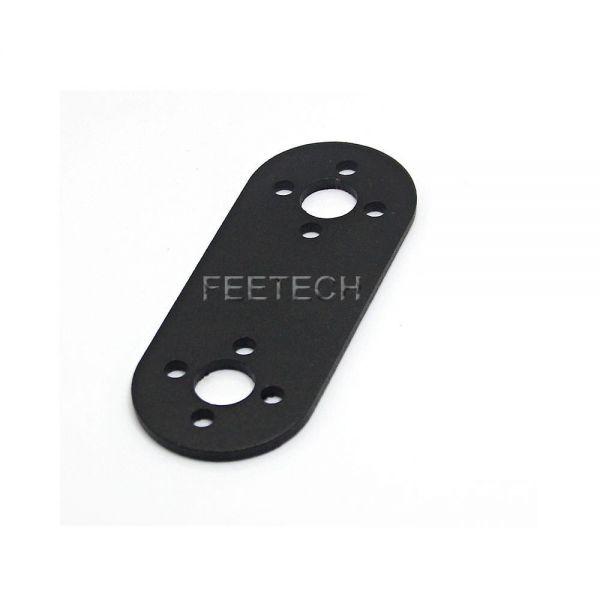Feetech FK-YS-001 Alu Schwarz Robo Servo Verbindungsplatte 63 x 2 x 25 mm