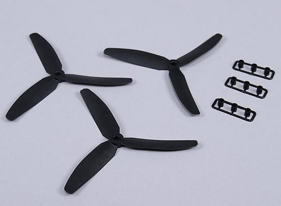 3x 5x3 3-Blatt Propeller Luftschraube Quadrocopter Rechts in Schwarz