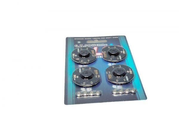 GT-Power 1:10 RC Car LED Dynamic Wheel Set- Rad Beleuchtungsset Rot - 2. Wahl