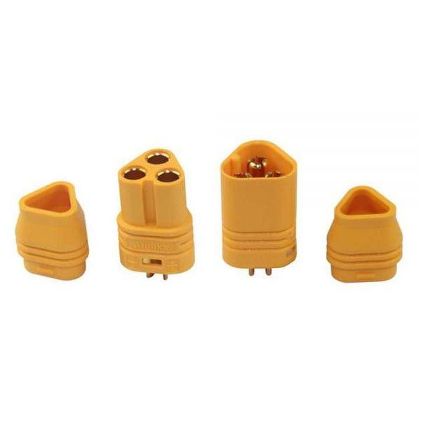 MT60 1 Paar Stecker Buchse 3x 3,5mm Goldstecker für Brushless Motor Regler