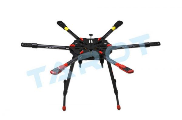 Tarot X6 klappbarer Carbon Hexacopter Rahmen - elektrisches Landegestell TL6X001