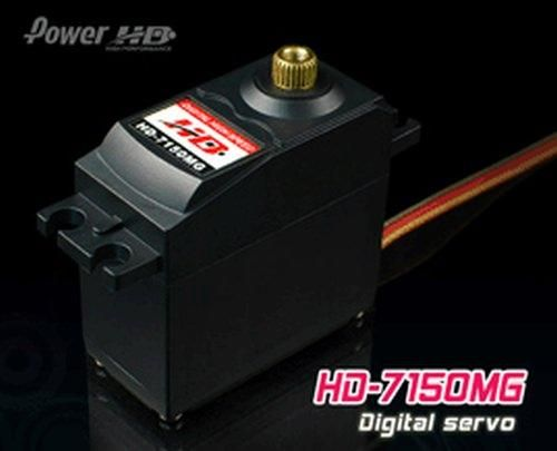 PowerHD HD-7150MG Digital Metallgetriebe Servo 49g 7,2kg 0,14sec 4,8V-6V