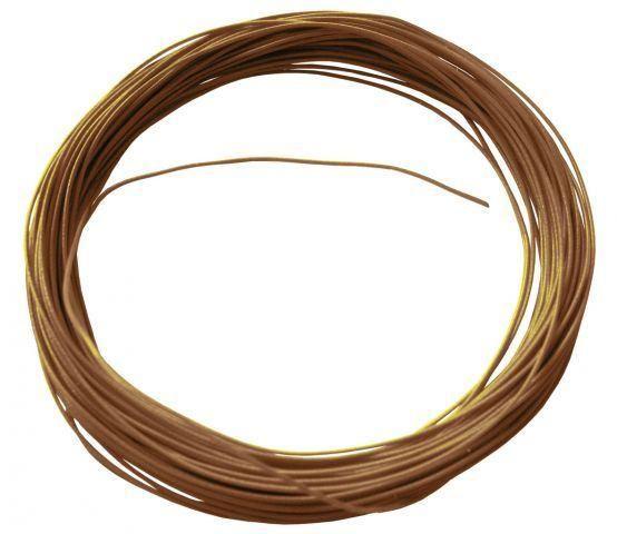 Flexible Litze in Braun 10m 0,6mm Durchmesser