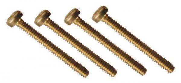 Zylinderschraube mit Schlitz M1.6 10mm 25 Stück Messing M1.6-10 DIN84