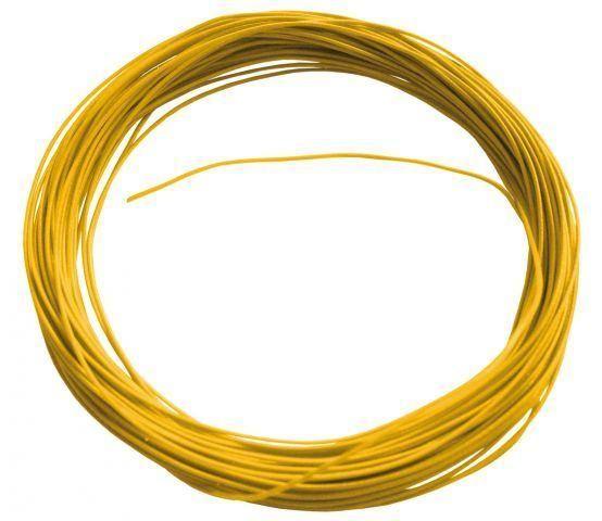 Flexible Litze in Gelb 10m 0,6mm Durchmesser