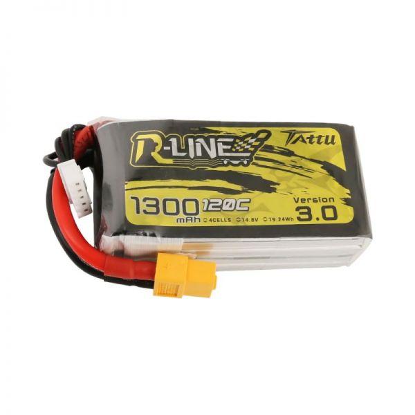 Gens Ace TATTU R-Line 3.0 LiPo Akku 4S 1300mAh 14,8V 120C FPV Racing
