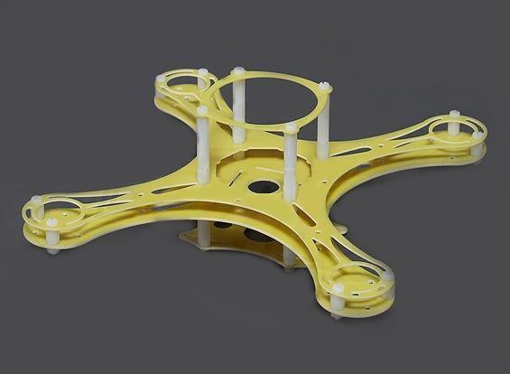 Micro GFK Quadrocopter Rahmen 24,5cm Quadcopter Frame