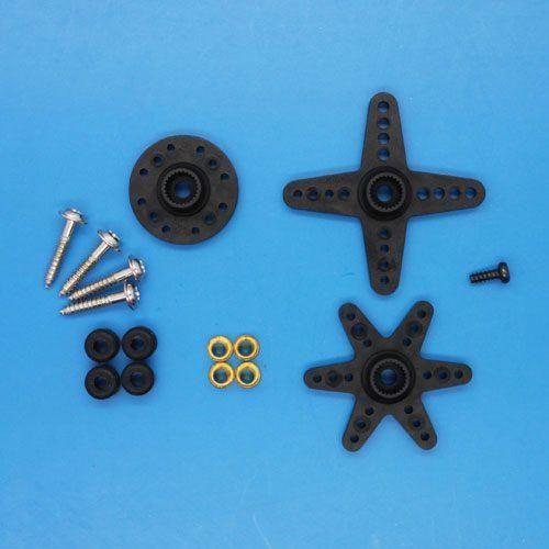 Ersatz Ruderhörner und Schrauben für Emax ES9257 und E9207 Heck Servo