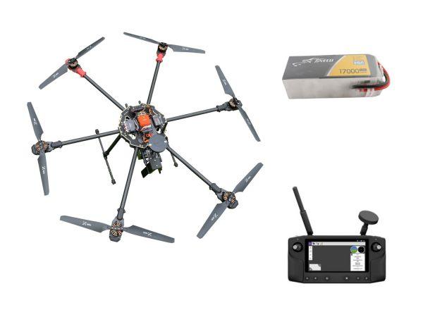 PM H-830L klappbarer Carbon Hexacopter Rahmen - RTF Komplettset