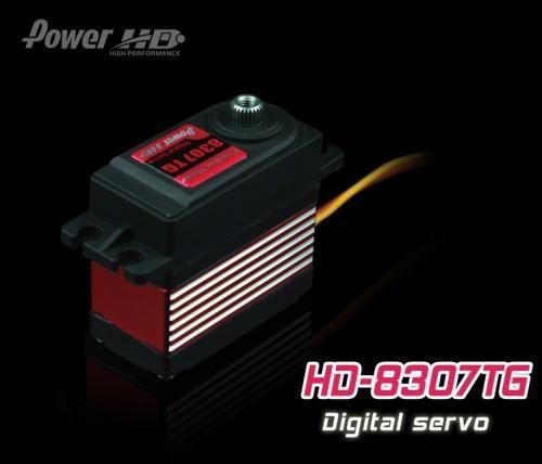 PowerHD HD-8307TG Digital Titangetriebe Servo 57g 8,5kg 0,08sec 4,8V-6V FBL Heli
