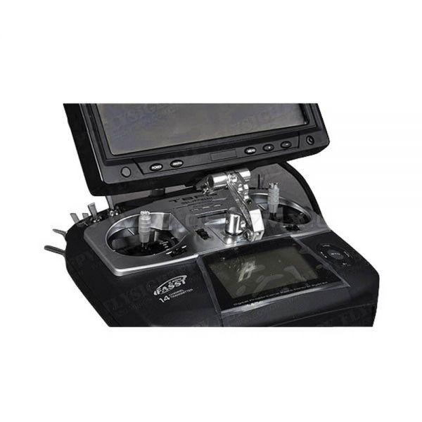 Flysight Alu FPV Monitorhalter Fernsteuerung Sender z.B. für Black Pearl Monitor