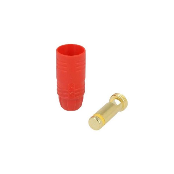 7 mm Anti-Blitz Goldsteckersystem AS150 - 150A - Stecker rot
