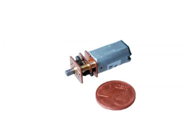 Micro Getriebemotor 6V 1:60 250 U/min 1,55 Ncm 30 x 12 x 10 mm Mini