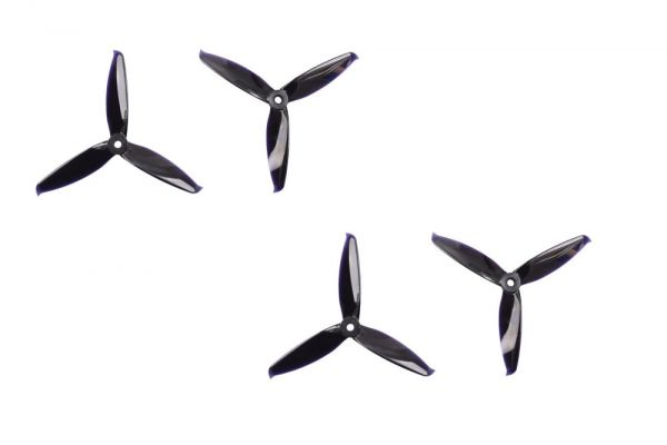 5.1x5.2 Gemfan Flash 3-Blatt FPV Race Propeller 2xL 2xR Schwarz PC 5152
