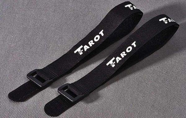 Tarot 600 Klettband schwarz 330mm x 20mm (2 Stück)