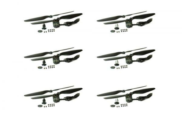 6x Emax MT2216 V3 Brushless Motor 810kv 3S-4S 11,1V-14,8V Hexacopter Set