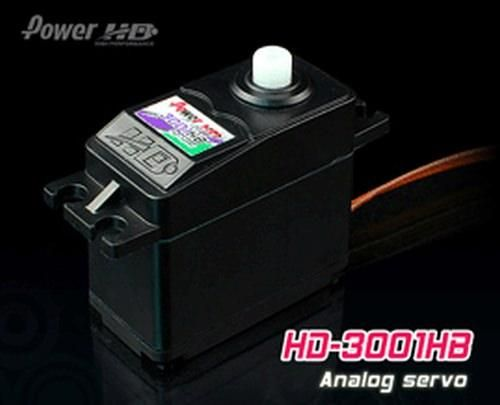 PowerHD HD-3001HB Standard Servo 43g 4.4kg 0,12sec 4,8V-6V Kugellager