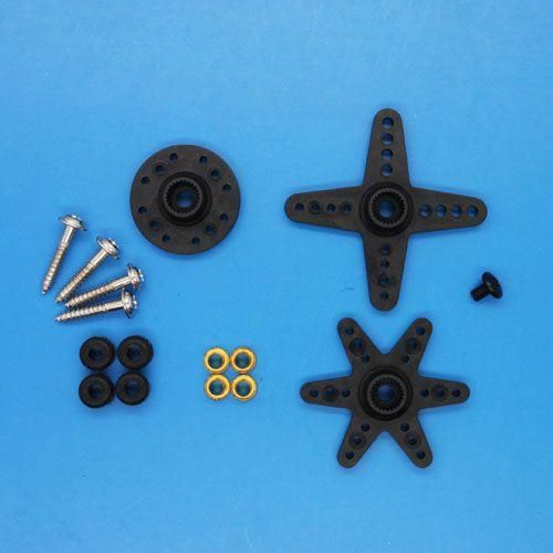 Ersatz Ruderhörner und Schrauben für Emax ES9258 Heck Servo