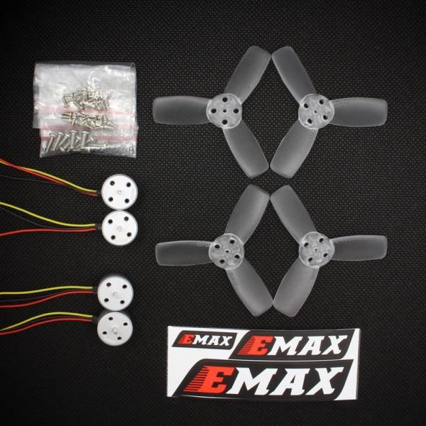 4x Emax RS1104 5250kv Motoren T2345 Propeller Micro FPV Racing Set