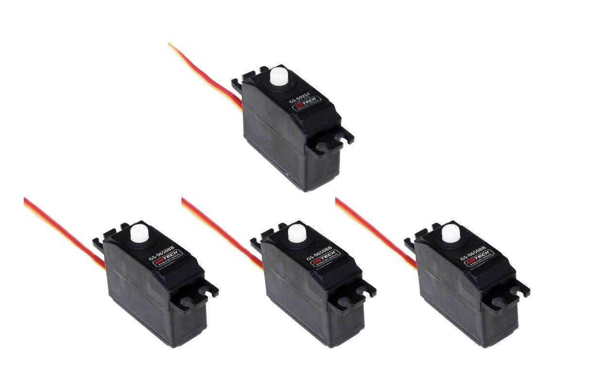 3x GS-9650BB 1x GS-9257 Digital Heckservo - Heli Servo Set T-REX 500 Pro CopterX