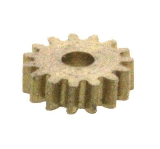 Zahnrad 15 Zähne Modul 0.2 1mm Bohrung Messing schrägverzahnt M0.2 Z15S