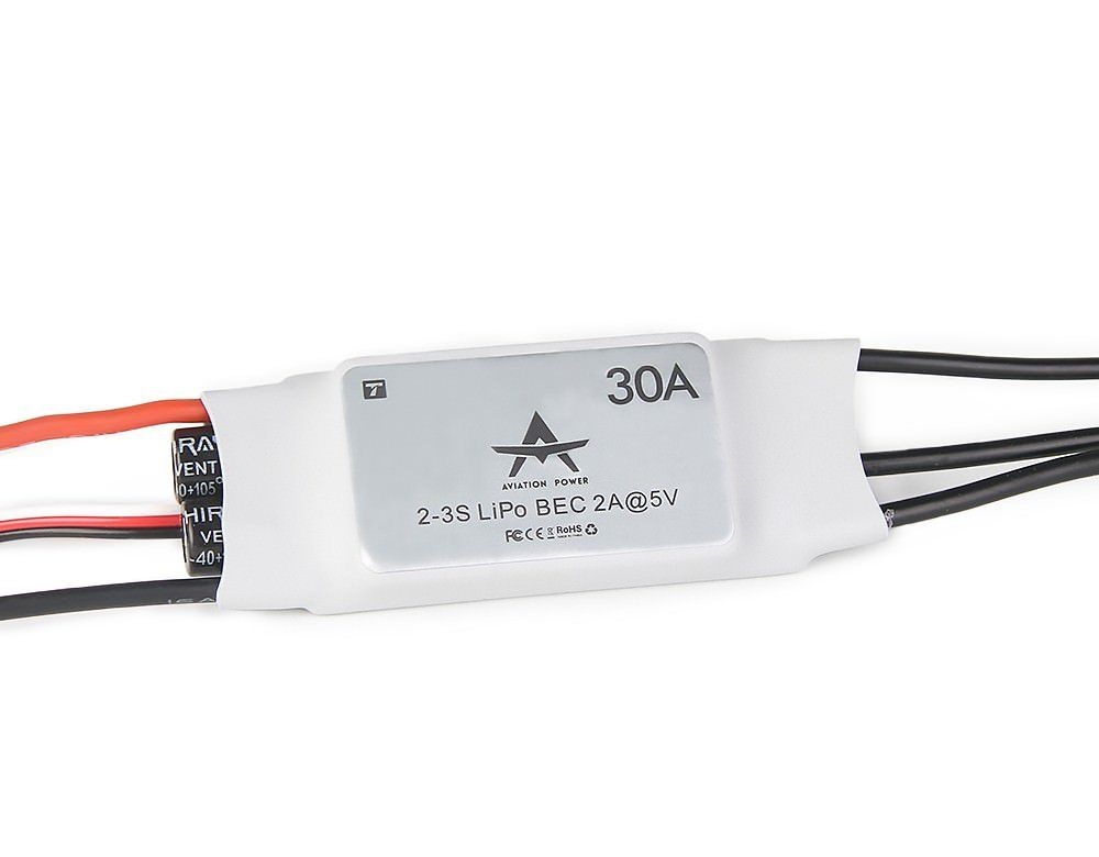 T-Motor AT 30A ESC - Fixed Wing Brushless Regler 30A 2S-3S 2A BEC