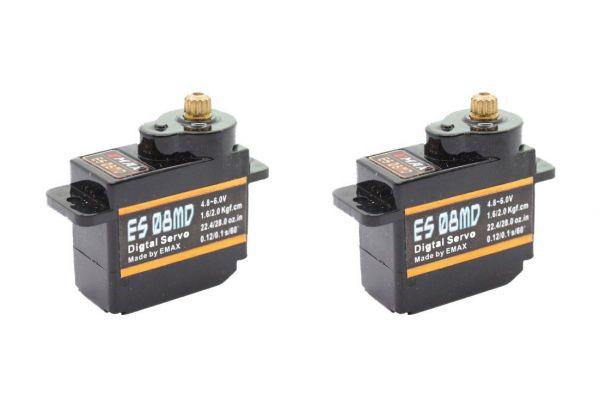 2x Emax ES08MD Digital Metall Micro RC Servo 12g 0,10s 2,0kg