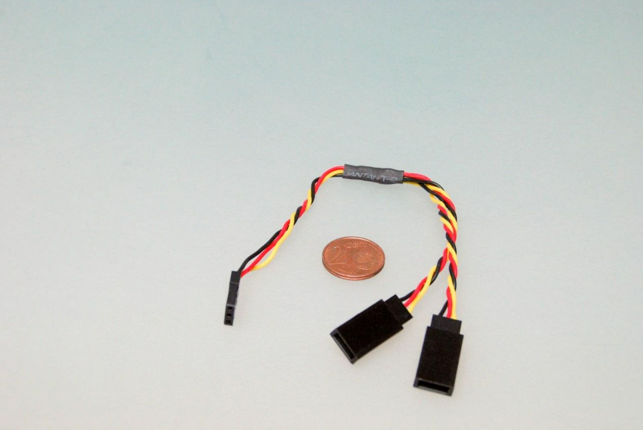 1x 15cm Servo Y- Verlängerungskabel 26AWG für JR Graupner V-Kabel