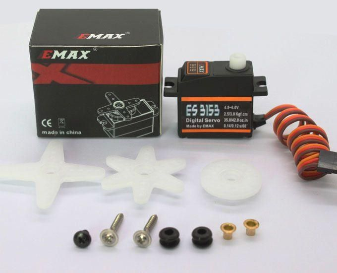 Emax ES3153 Digital Mini Servo 17g 3.0kg 0,12sec 4,8V-6V Kugellager BB