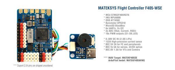 Matek F405-WSE Wing Flightcontroller F405 Ardupilot, INAV
