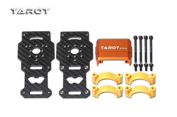 Tarot TL96026-02 Dual Carbon Motorhalterung Orange für 25mm Rohre