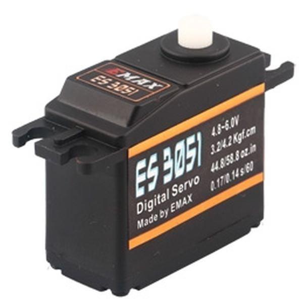 Emax ES3051 Digital Servo 37g 4.2kg 0,14sec 4,8V-6V mit Kugellager BB