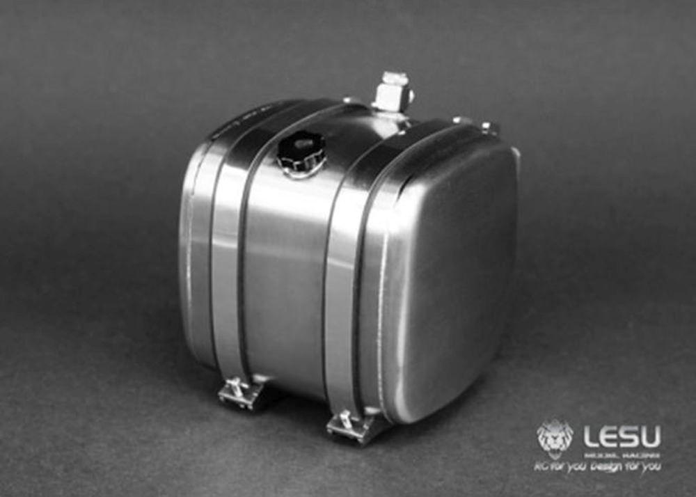 Lesu Hydrauliktank aus Edelstahl 36mm 1:14 Tamiya G-6139-36