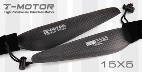 T-Motor 15x5 Carbon Fiber Propeller 1x CW 1x CCW MN Tiger Multicopter