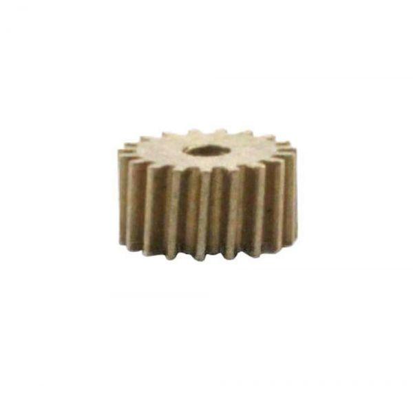 Zahnrad 19 Zähne Modul 0.2 1mm Bohrung Messing schrägverzahnt M0.2 Z1912S