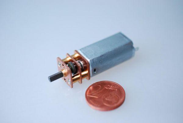 Mini Getriebemotor 6V 1:146 44 U/min 6,35 Ncm 37 x 13 x 12 mm Micro