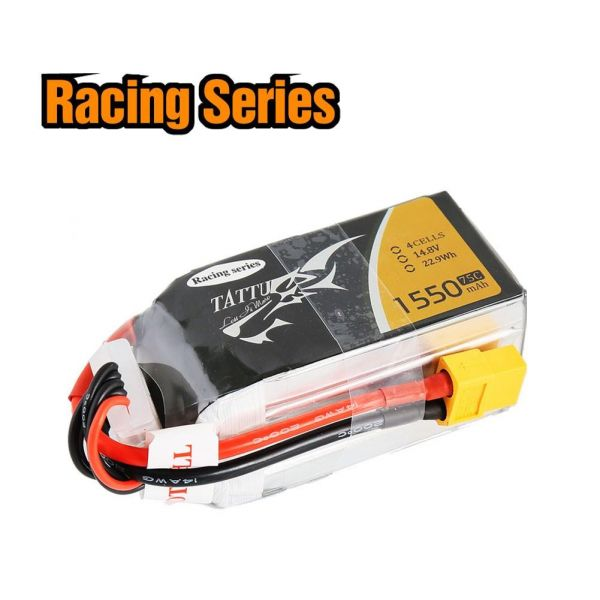 Gens Ace TATTU LiPo Akku Pack 4S 1550mAh 14,8V 75C 150C 250 Racing Series