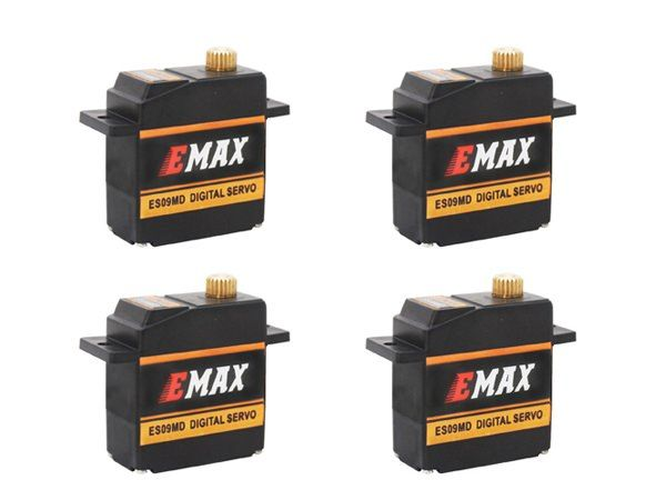 4x Emax ES09MD Digital Metallgetriebe BB Mini Servo 15g 0,08s 2,6kg vgl. ES08MD