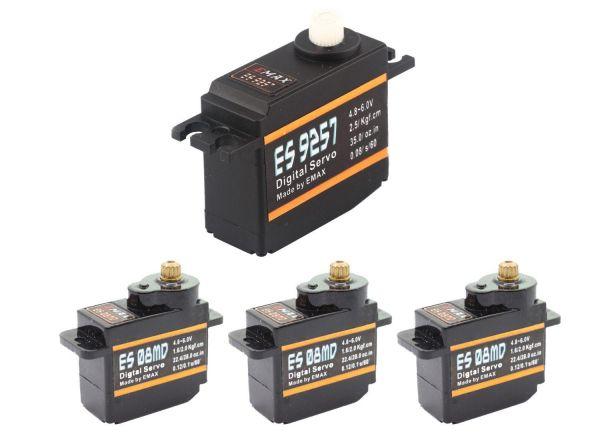 Emax 3x ES08MD 1x ES9257 Digital Heli Servo Set T-REX 450 Pro CopterX