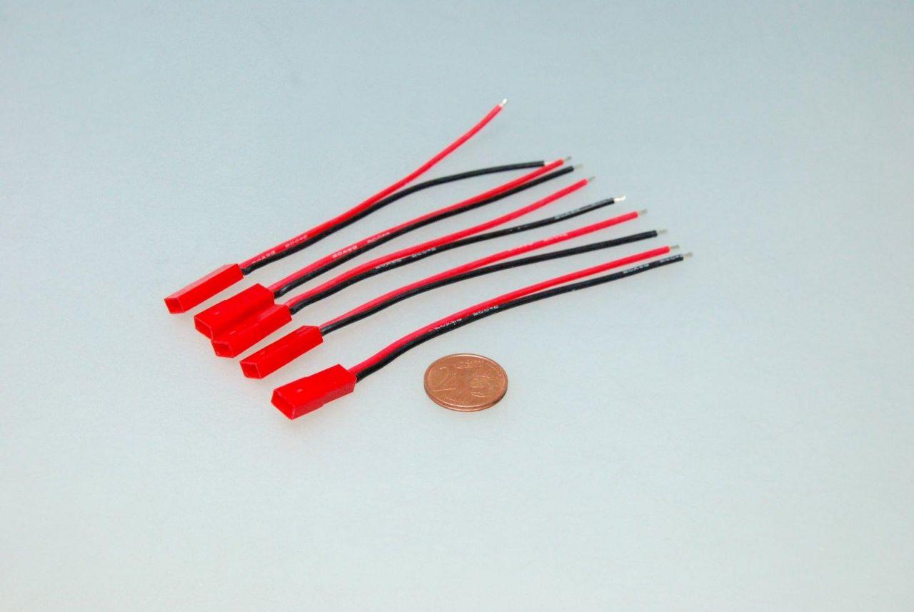 5x JST BEC Stecker männlich 10cm Kabel 20AWG Lipo z.B. Turnigy Zippy