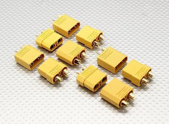 XT90 5 Paar Stecker Buchse - 90A Hochstrom Goldstecker HXT Turnigy Zippy Lipo