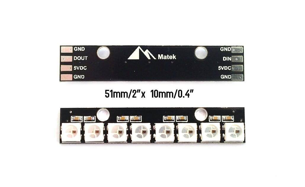 Matek RGB LED Leiste WS2812B 2812-8 FPV Naze32 Cleanflight