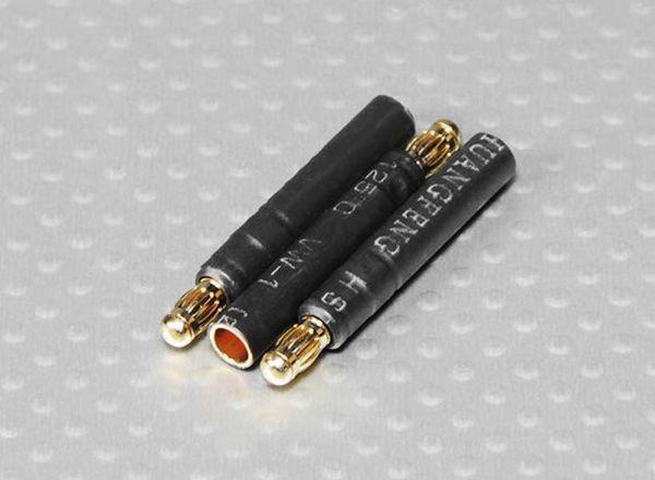 4mm zu 3,5mm Goldstecker Adapterstecker 3 Stück