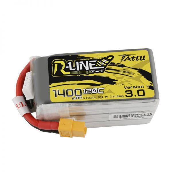 Gens Ace TATTU R-Line 3.0 LiPo Akku 6S 1400mAh 22,2V 120C FPV Racing