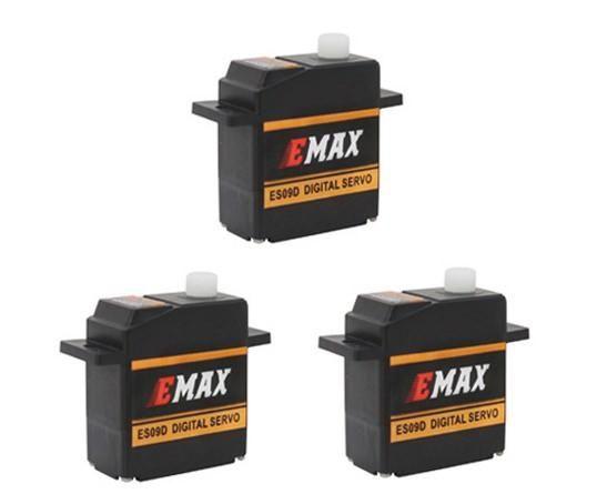 3x Emax ES09D Digital Micro Mini Servo 11,6g 0,09s 2,5kg mit Kugellager ES08D