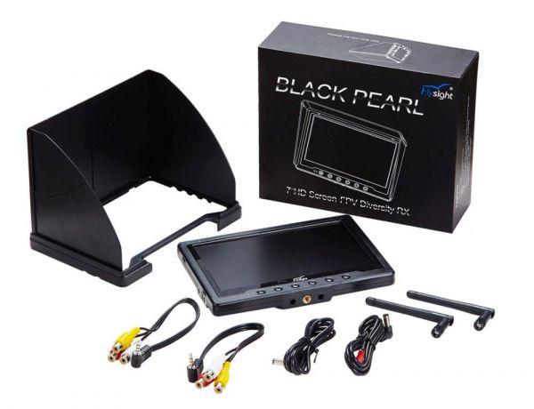 """Black Pearl 7"""" 5,8Ghz Diversity Monitor mit Akku und Netzteil F-Band"""