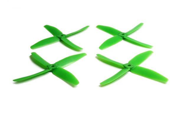 5x4 Gemfan 2x CW 2x CCW 4-Blatt Propeller Grün Nylon GF 5040