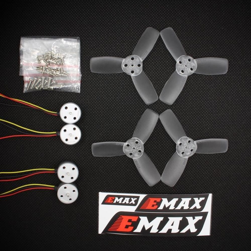 4x Emax RS1104 5250kv Motoren T2345 Propeller Micro FPV Racing Set